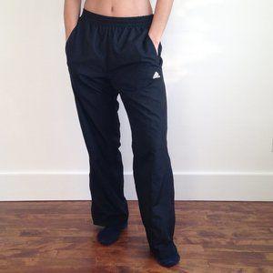 Adidas - Black Track Pants + Pockets +Ankle Zipper